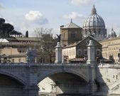 Ponte Saint Angelo detail — Stock Photo