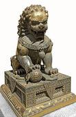 Chinese Lion sculpture — Stok fotoğraf