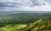 Queen Elizabeth National Park in stormy ambiance — Stock Photo