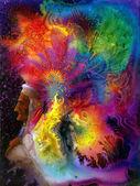 Coiffe indien coloré — Photo