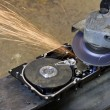 Hard disk grinding — Stock Photo
