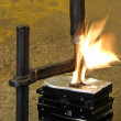 Burning vise and hard disks — Stock Photo #7384969