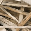 Stock Photo: Wooden chaos closeup