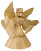 Wooden angel sculpture — Stock Photo