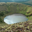 Crater lake at the Azores — Stock Photo