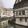 Canal scenery in Strasbourg — Stock Photo