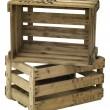 Wooden wine crate - Stock Photo
