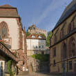 Stiftskirche and Kilianskapelle in Wertheim — Stock Photo