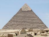 Pyramid of Khafre in sunny ambiance — Stock Photo