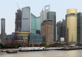 Shanghai at Huangpu River — Stock Photo