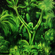Stock Photo: Surreal green plant