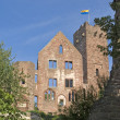 Sunny illuminated Wertheim Castle detail - Stock Photo