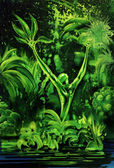 Surreal green plant — Stock Photo