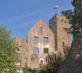 Sunny illuminated Wertheim Castle detail — Stock Photo
