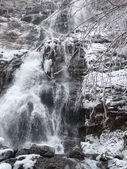 Todtnau Waterfall at winter time — Stock Photo
