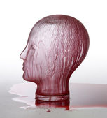 Bloody glass head — Stock Photo
