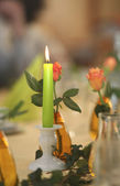 Festive candle light — Stock Photo