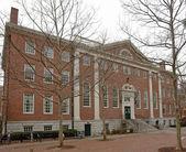 Harvard yard på vintern — Stockfoto