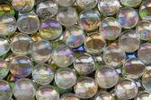 Iridescent glass beads — Stock Photo