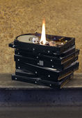 Burning hard disks — Stock Photo