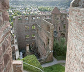 Aerial Wertheim Castle detail — Stock Photo