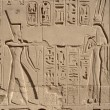 Stock Photo: Relief at Precinct of Amun-Re