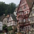 Timbered houses in Miltenberg - Stock Photo