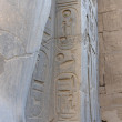 Hieroglyphics at Luxor Temple in Egypt - Stock Photo