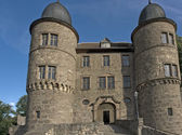 Wertheim Castle detail in front of blue sky — Stock Photo