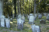 Part of a old jewish graveyard — Stock Photo