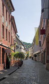 Paisaje de la calle friburgo de brisgovia — Foto de Stock