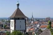 Aerial view of Freiburg im Breisgau in sunny ambiance — Stock Photo