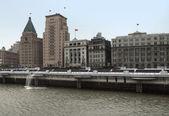 Shanghai at Huangpu River — Stock Photo
