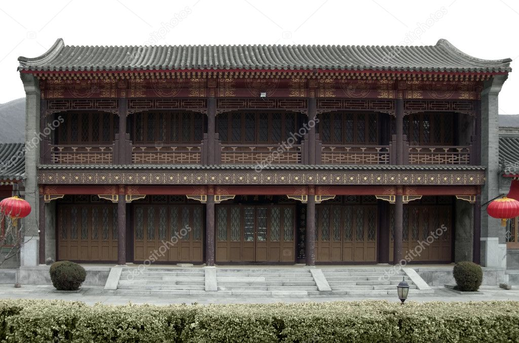 Traditional building near Badaling, which is the most visited section of the Great Wall of China  Stock Photo #7461158
