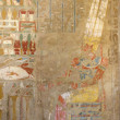 Stock Photo: Painting at Mortuary Temple of Hatshepsut