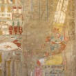 Stock Photo: Painting at the Mortuary Temple of Hatshepsut