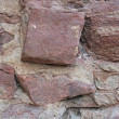 Historic stone wall detail — Stock Photo
