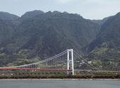 Bridge at Yangtze River — Stock Photo