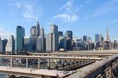 New York skyline in sunny ambiance — Stock Photo