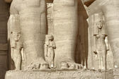 Detail of the Abu Simbel temples — Stock Photo
