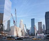 Construction site at Ground Zero — Stock Photo