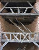Schodiště na hrad haut-koenigsbourg — Stock fotografie