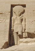 Sculpture at the Abu Simbel temples — Stock Photo