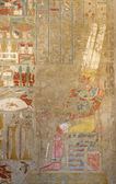 Painting at the Mortuary Temple of Hatshepsut — Stock Photo
