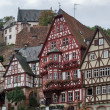 Half timbered houses in Miltenberg - Stock Photo