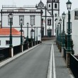 Street scenery at Ponta Delgada — Stock Photo