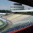 Racetrack tribune in sunny ambiance - Stock Photo