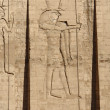 Relief at the Temple of Edfu in Egypt — ストック写真