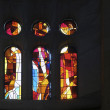 Colorful windows inside Sagrada Familia — Stock Photo