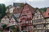 Half timbered houses in Miltenberg — Stock Photo